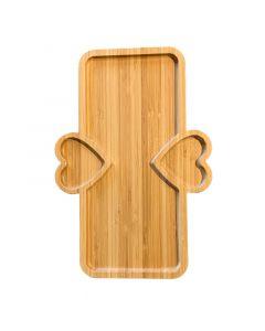 حاملة خشبية كبيرة مستطيلة من جينجيالي