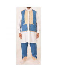 بدلة فرملة بالسروال أزرق ملكي - 2 قطع