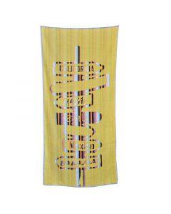 Beach towel 100 * 180 - yellow