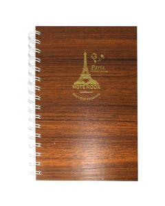 مذكرة ملاحظات خشبية متوسطة برسمة برج إيفل