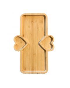 حاملة خشبية متوسطة مستطيلة من جينجيالي