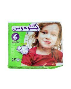 حفاظات أطفال رقم 6 بودوس 25-15 كجم