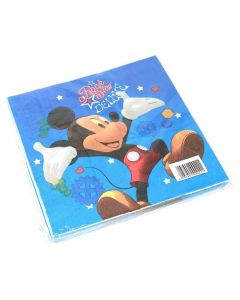 Birthday Napkins With Mickey Drawing