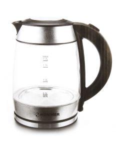 كاتل ماء كهربائي زجاجي بسعة 1.7 لتر من هومر