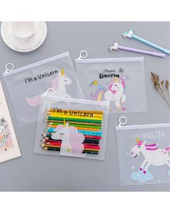 Plastic envelopes to save papers (unicorn)