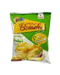 بطاطا شيبس بطعم الشطة و الليمون مع هدية بزياده - 30 ج