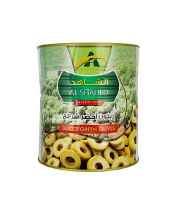 زيتون اخضر شرائح الشاهد - 3 كجم