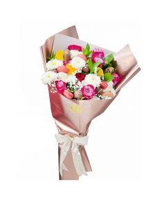 باقة زهور ماكرون جودلن روز
