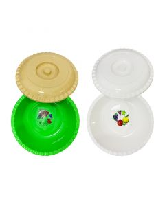 معجنة بلاستيك بالغطاء حجم كبير - 35 لتر
