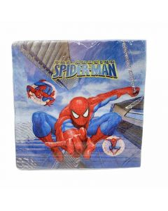 Birthday Napkins With spiderman Drawing