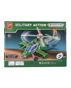 لعبة تركيب هليكوبتر أباتشي - 270 قطعة معدنية