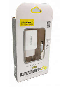 Pavareal Dual USB Fast Charger Set 2.4A CK-59