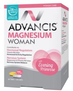 ماغنيسيوم للنساء ادفانسيس - 30 قرص + 30 كبسولة