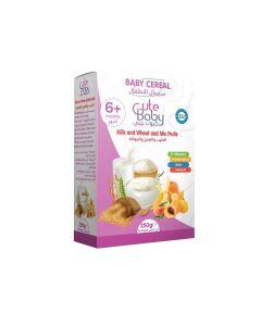 سيريال الاطفال بنكهة الحليب والقمح والفواكة كيوت بيبي - 250 ج